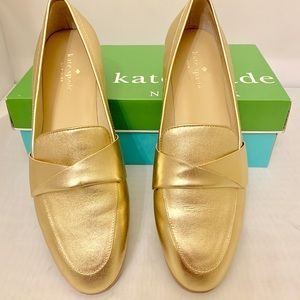 83639b5ff1a kate spade Shoes - Kate Spade Satchi Metallic Gold Loafers